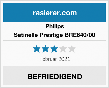 Philips Satinelle Prestige BRE640/00 Test