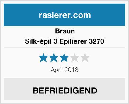 Braun Silk-épil 3 Epilierer 3270 Test