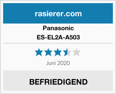 Panasonic ES-EL2A-A503 Test