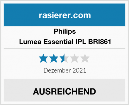 Philips Lumea Essential IPL BRI861 Test