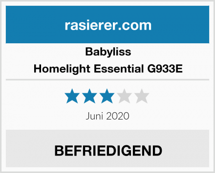 Babyliss Homelight Essential G933E Test