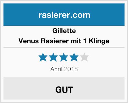 Gillette Venus Rasierer mit 1 Klinge Test