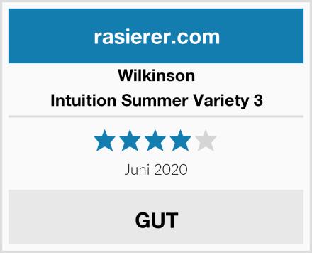 Wilkinson Intuition Summer Variety 3 Test