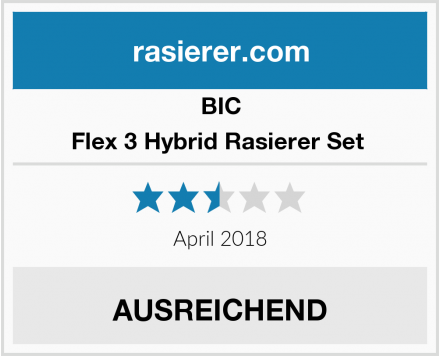 BIC Flex 3 Hybrid Rasierer Set  Test