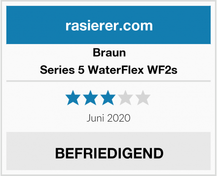 Braun Series 5 WaterFlex WF2s Test