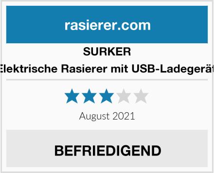 SURKER Elektrische Rasierer mit USB-Ladegerät  Test