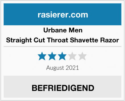 Urbane Men Straight Cut Throat Shavette Razor Test