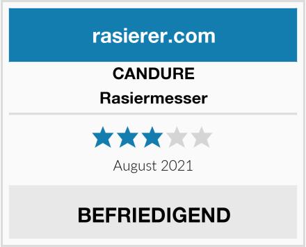 CANDURE Rasiermesser Test