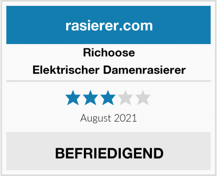 Richoose Elektrischer Damenrasierer Test