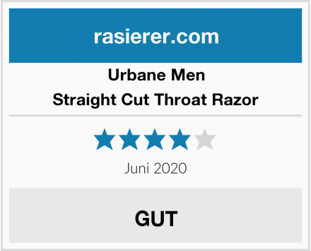 Urbane Men Straight Cut Throat Razor Test