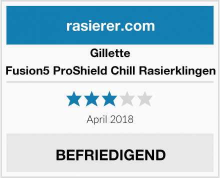 Gillette Fusion5 ProShield Chill Rasierklingen Test
