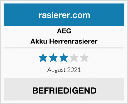 AEG Akku Herrenrasierer Test