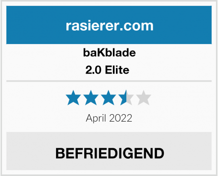 baKblade 2.0 Elite  Test