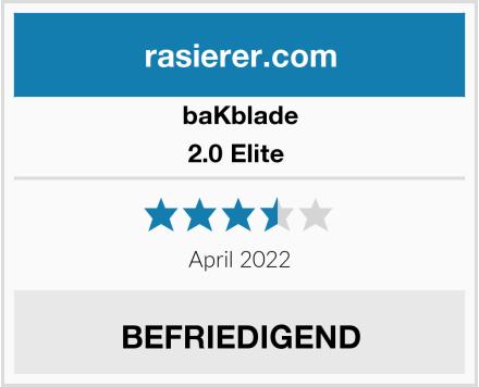 baKblade 2.0 Elite  Test