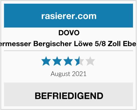 DOVO Rasiermesser Bergischer Löwe 5/8 Zoll Ebenholz Test