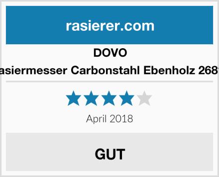 DOVO Rasiermesser Carbonstahl Ebenholz 26810 Test
