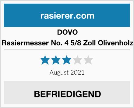 DOVO Rasiermesser No. 4 5/8 Zoll Olivenholz Test