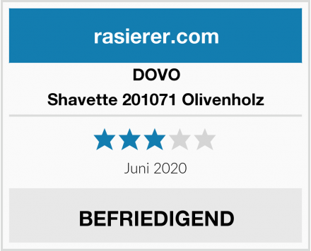 DOVO Shavette 201071 Olivenholz Test