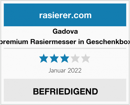 Gadova premium Rasiermesser in Geschenkbox Test