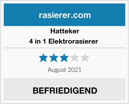 Hatteker 4 in 1 Elektrorasierer  Test