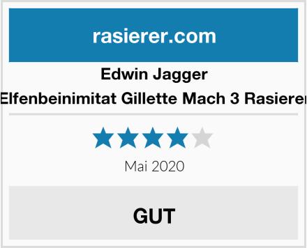 Edwin Jagger Elfenbeinimitat Gillette Mach 3 Rasierer Test