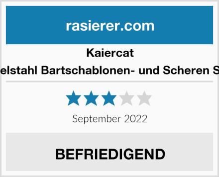 Kaiercat Edelstahl Bartschablonen- und Scheren Set  Test