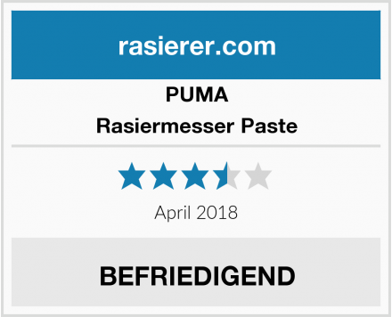 PUMA Rasiermesser Paste Test