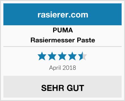 PUMA Rasiermesser Paste Test