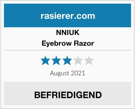 NNIUK Eyebrow Razor Test