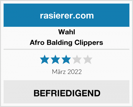 Wahl Afro Balding Clippers Test