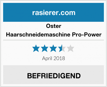 Oster Haarschneidemaschine Pro-Power Test