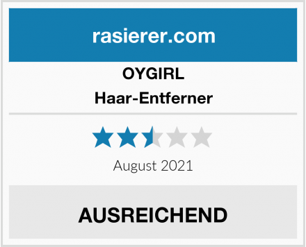 OYGIRL Haar-Entferner Test