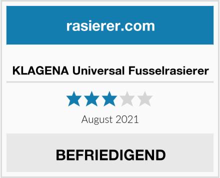 KLAGENA Universal Fusselrasierer Test