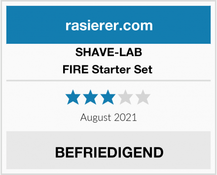 SHAVE-LAB FIRE Starter Set  Test