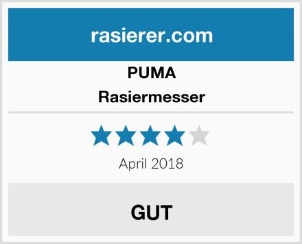 PUMA Rasiermesser Test
