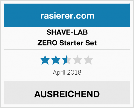 SHAVE-LAB ZERO Starter Set Test