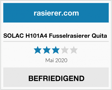 No Name SOLAC H101A4 Fusselrasierer Quita  Test