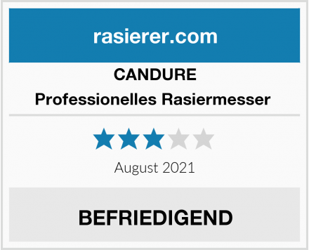 CANDURE Professionelles Rasiermesser  Test