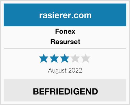 Fonex Rasurset Test