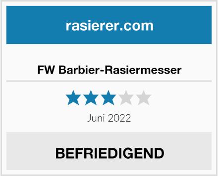 No Name FW Barbier-Rasiermesser Test