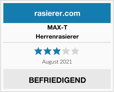 MAX-T Herrenrasierer Test