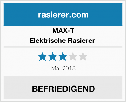 MAX-T Elektrische Rasierer  Test