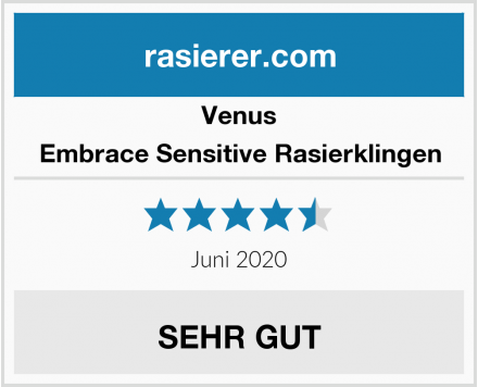 Venus Embrace Sensitive Rasierklingen Test