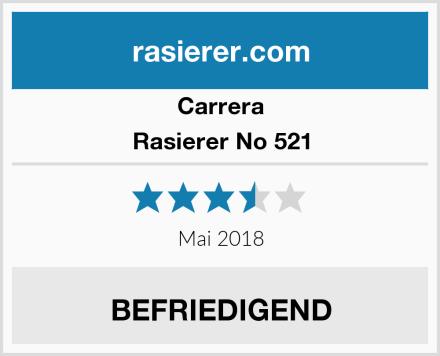 Carrera Rasierer No 521 Test