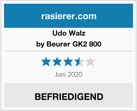 Udo Walz by Beurer GK2 800 Test