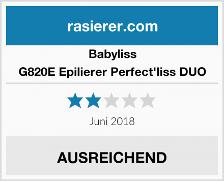 Babyliss G820E Epilierer Perfect'liss DUO Test