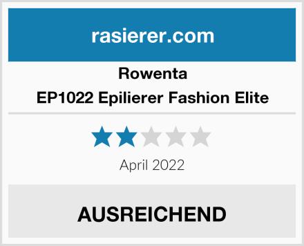 Rowenta EP1022 Epilierer Fashion Elite Test