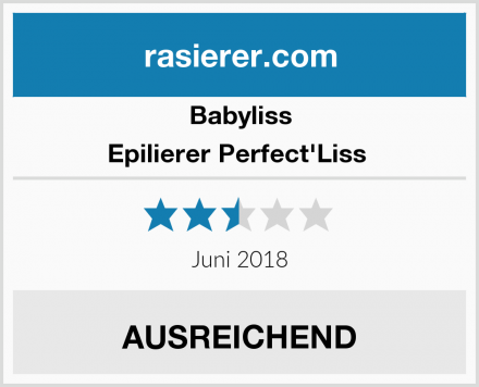 Babyliss Epilierer Perfect'Liss  Test