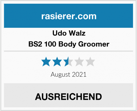 Udo Walz BS2 100 Body Groomer Test
