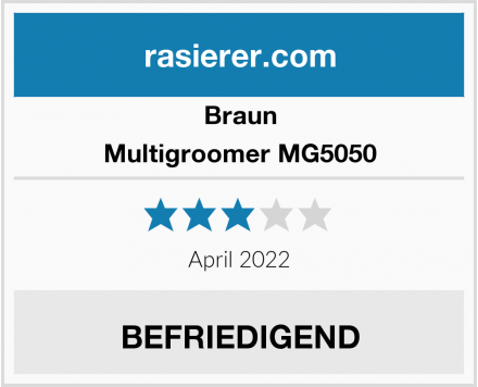 Braun Multigroomer MG5050 Test